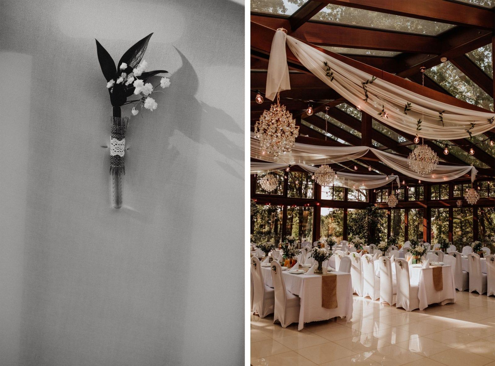 dekoracje ślubne w Leśnym Domu w Barlinku