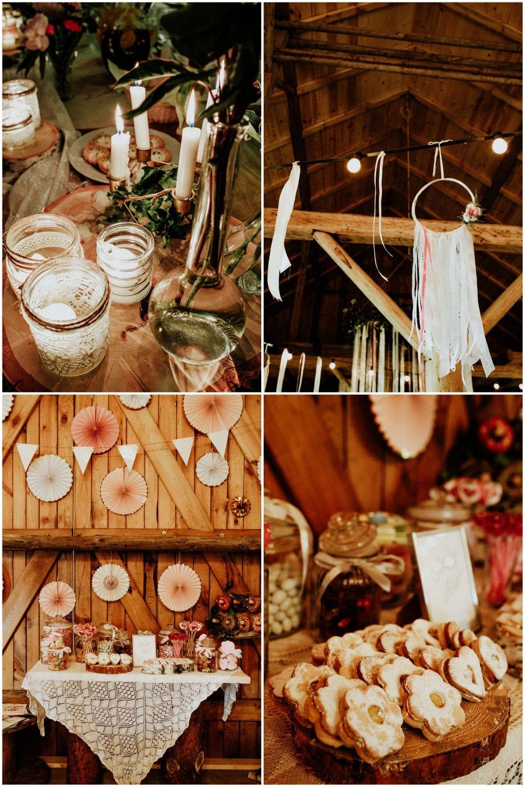 ozdoby boho w stodole Słodkówko
