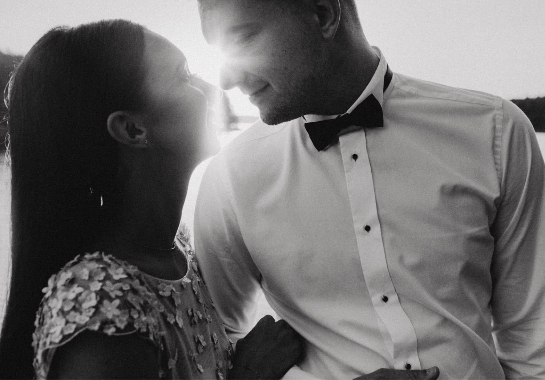 Sesja poślubna w lesie Dominikowo