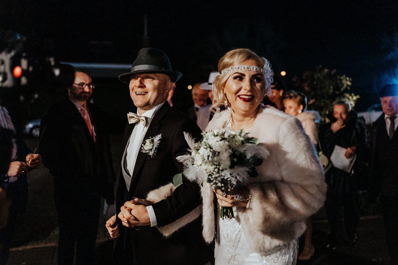 Hotel Wenus Kobylanka, Pałac Rajkowo, ślub w stylu lat 20, The Great Gatsby, wielki Gatsby piękny ślub w stylu lat 20