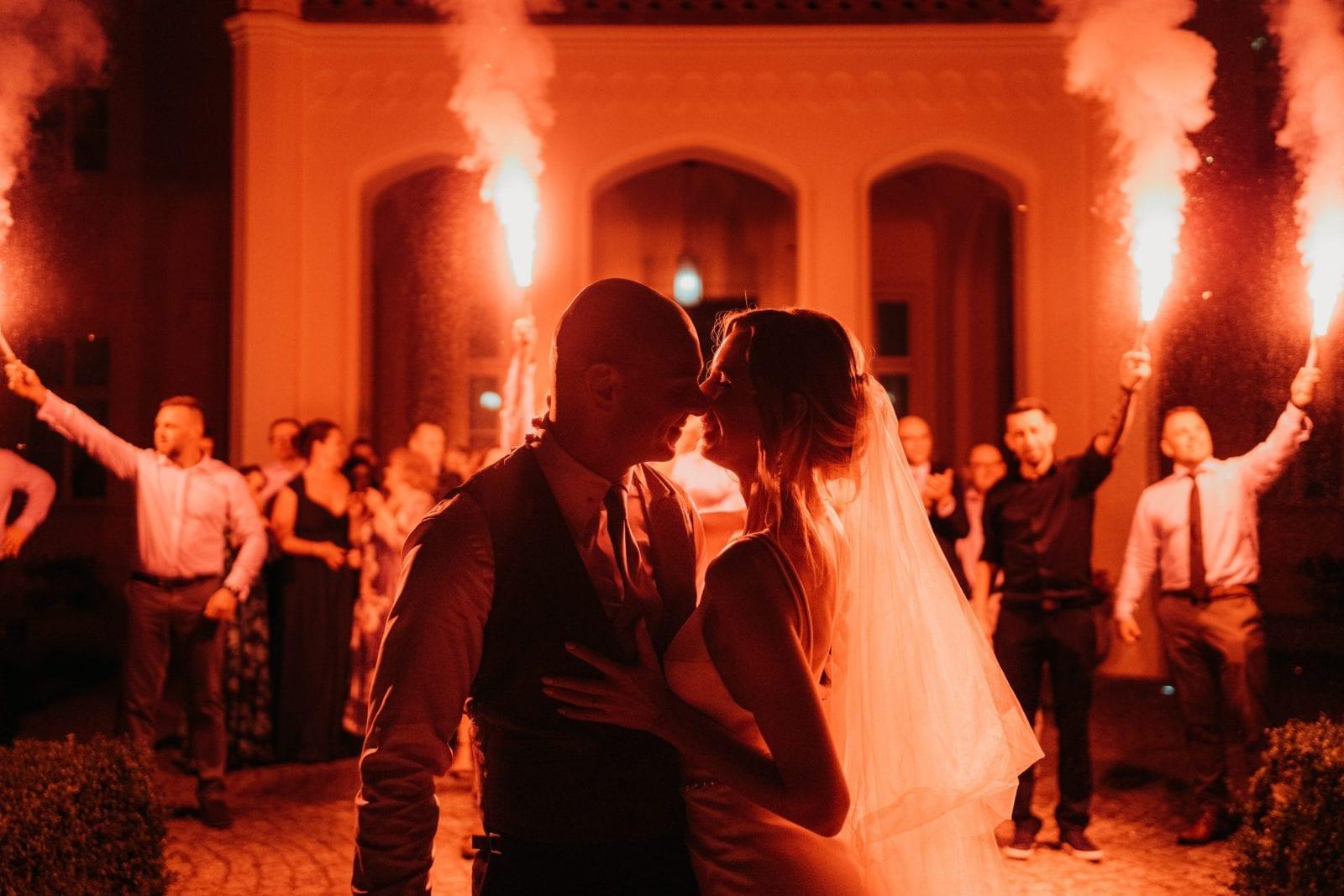 flary na weselu Pałac Mierzęcin