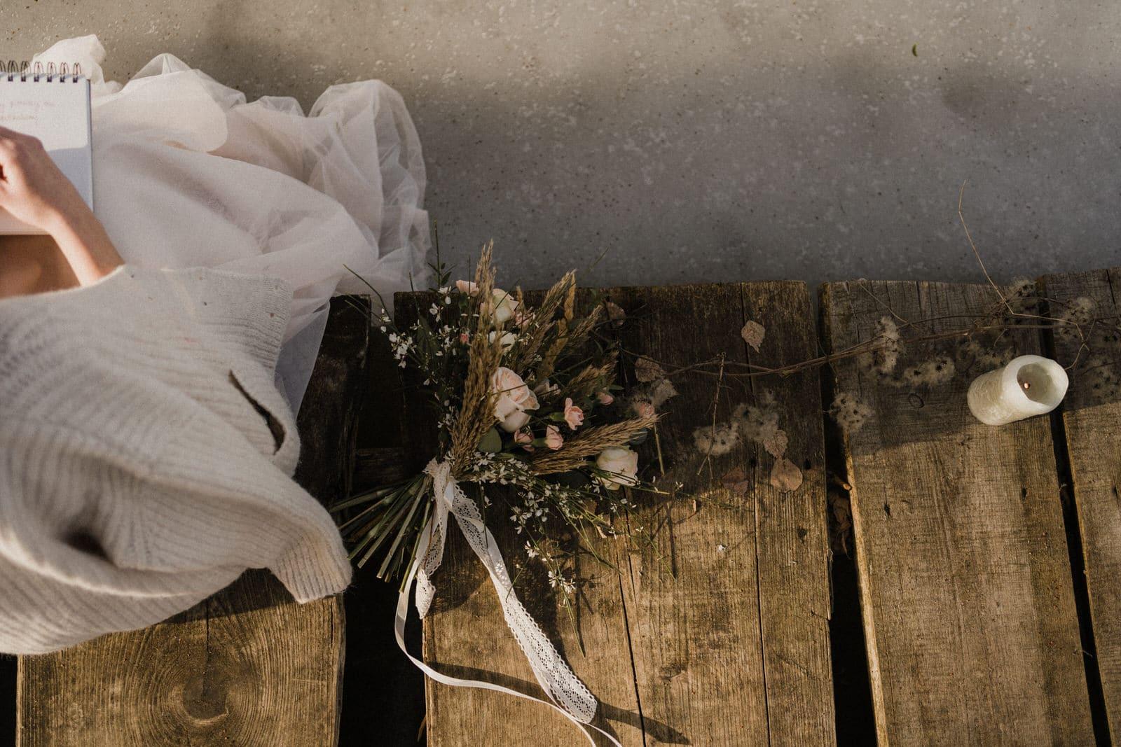 bukiet ślubny na Elopement