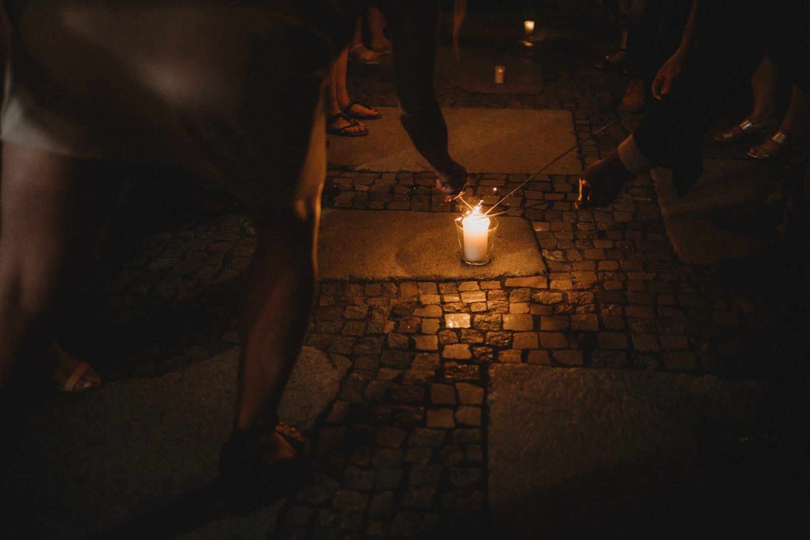 zimne ognie na weselu w Młynie nad Starą Regą